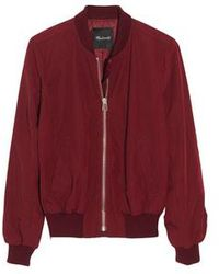Madewell - Side Zip Bomber Jacket - Lyst