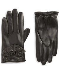 Nordstrom - Bow Short Leather Gloves - Lyst