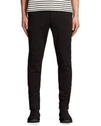AllSaints - Park Skinny Fit Chino Pants - Lyst