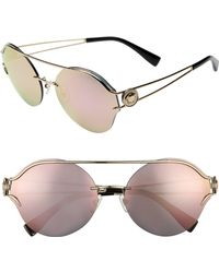 c6d419e863 Versace - Rock Icons Medusa 61mm Metal Sunglasses - Pale Gold  Pink Mirror  - Lyst