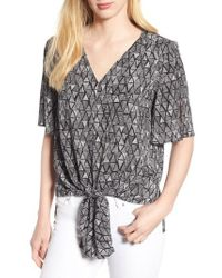 Chaus - Vivid Triangle Tie Front Blouse - Lyst