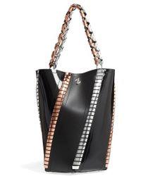 Proenza Schouler - Medium Hex Metallic Whipstitch Leather Bucket Bag - Lyst