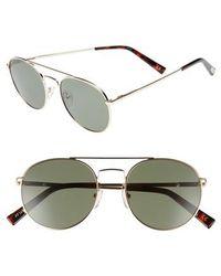 Le Specs - Revolution 53mm Aviator Sunglasses - Lyst