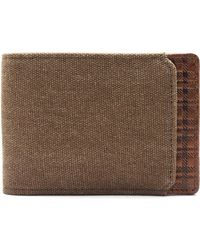 Boconi - Bryant Leather & Canvas Slimster Wallet - - Lyst