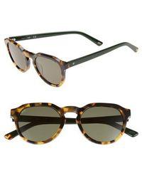 Web - 50mm Sunglasses - Havana/ Green - Lyst