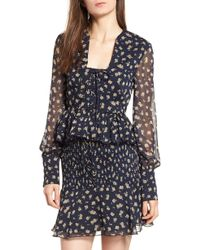The East Order - Lace-up Peplum Blouse - Lyst
