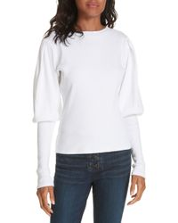 Veronica Beard - Lyon Puff Sleeve Top - Lyst