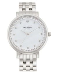 Kate Spade - 'monterey' Crystal Dial Bracelet Watch - Lyst