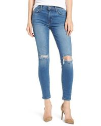 Current/Elliott - The Stiletto Ripped Skinny Jeans - Lyst