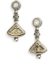 Konstantino - Eched Sterling Silver & Gold Drop Earrings - Lyst
