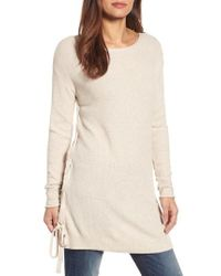 Caslon - Caslon Side Tie Seed Stitch Tunic Top - Lyst