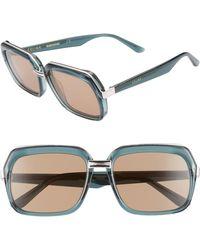 Céline - 56mm Smart Fit Sunglasses - Transparent Green/ Brown - Lyst