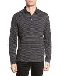 French Connection - Alternative Stripe Long Sleeve Polo - Lyst
