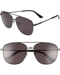 2690e42e1b Lyst - Gucci Navigator 60mm Polarized Aviator Sunglasses - Ruthenium ...