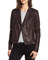 Andrew Marc - Marc New York By 'felix' Stand Collar Leather Jacket - Lyst