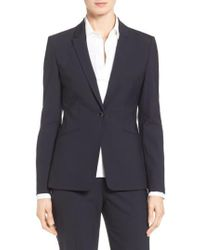 BOSS - Jabina Tropical Stretch Wool Jacket - Lyst