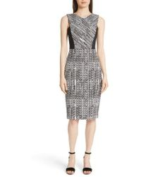 Jason Wu - Herringbone Jacquard Sheath Dress - Lyst