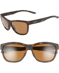 3a3a745e6e50 Lyst - Smith Eclipse 58mm Chromapop(tm) Polarized Sunglasses in Brown