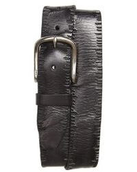John Varvatos | John Varvatos Star Usa Etched Edge Leather Belt | Lyst