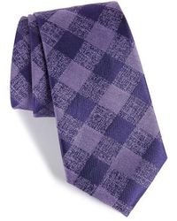 Calibrate - Tigrane Check Silk & Cotton Tie - Lyst