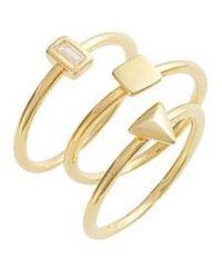 Elise M - Kai Set Of 3 Geometric Rings - Lyst