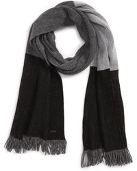 BOSS - Mandus Colorblock Wool Blend Scarf - Lyst