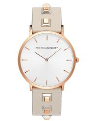 Rebecca Minkoff - Major Embellished Leather Strap Watch - Lyst