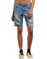 Volcom - Super Stoned Denim Bermuda Shorts - Lyst