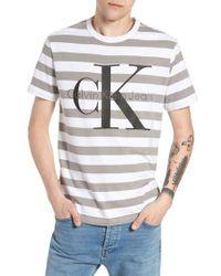 Calvin Klein Jeans - Stripe Reissue T-shirt - Lyst