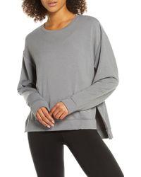 Zella - Split Hem Sweatshirt - Lyst