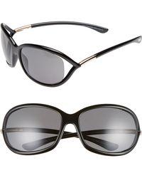 5f346fa197 Tom Ford - Jennifer 61mm Polarized Open Temple Sunglasses - Shiny Black   Grey Polarized -