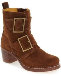 Frye - 'sabrina' Double Buckle Boot - Lyst