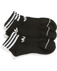 adidas - Originals 3-pack Ankle Socks, Black - Lyst