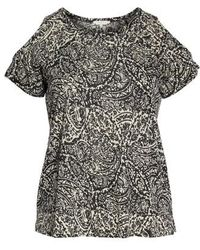 Lucky Brand - Paisley Print Cold Shoulder Tee - Lyst