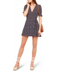 Reformation - Lucky Wrap Dress - Lyst