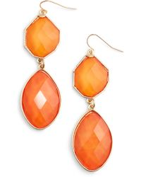 Adia Kibur - Stone Drop Earrings - Lyst