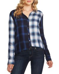 Vince Camuto - Mixed Plaid Shirt - Lyst