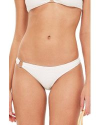 TOPSHOP - Ribbed Ring Bikini Bottoms - Lyst