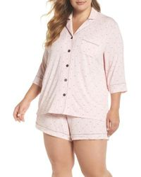 Pj Salvage - Modal Three-quarter Sleeve Short Pajamas - Lyst