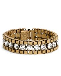 Loren Hope - 'carly' Crystal & Chain Bracelet - Lyst