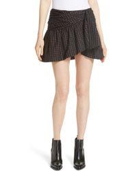 Mes Demoiselles - Sylvia Faux Wrap Mini Skirt - Lyst