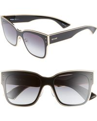 5ca9ecff12b50 Lyst - Moschino Jeweled Dramatic Cat-eye Sunglasses in Black