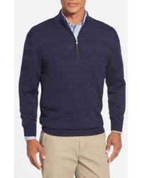 Cutter & Buck - 'douglas' Merino Wool Blend Half Zip Sweater - Lyst