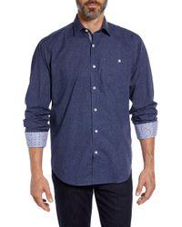 Bugatchi - Classic Fit Melange Sport Shirt - Lyst