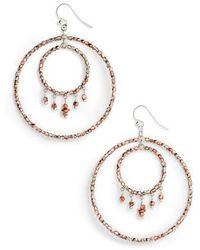 Chan Luu - Double Hoop Earrings - Lyst