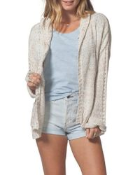 Rip Curl - Swing By Hooded Cardigan - Lyst