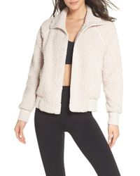 Zella - Cozy Up Bomber Jacket - Lyst