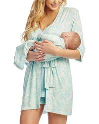 Lyst - Everly Grey Adalia 5-piece Maternity nursing Pajama Set in Blue 42121c814