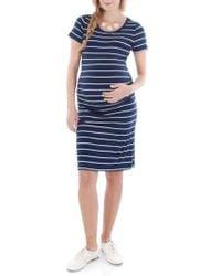 Everly Grey - 'camila' Stripe Maternity Dress - Lyst