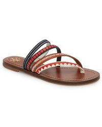 Tory Burch | Patos Embroidered Thong Sandal | Lyst